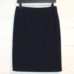 Ralph Lauren Collection navy wool & cashmere skirt